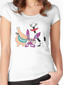 Aaahh!!! Real Monsters! Women's Fitted Scoop T-Shirt