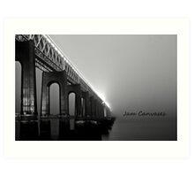 Tay rail bridge ,Dundee Art Print