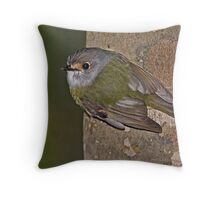 Pale-yellow Robin  Throw Pillow