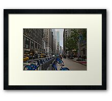 Broadway in the Garment District Framed Print