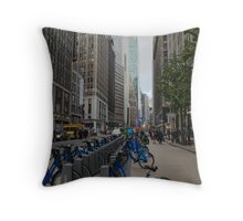 Broadway in the Garment District Throw Pillow