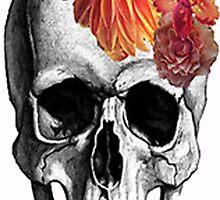 Skull & Flowers  by smentcreations