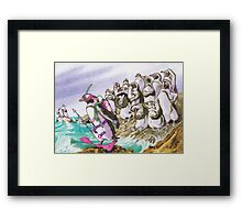 Fishing dress Framed Print