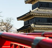 Matsumoto - Castle with the bridge by Quentin Jarc