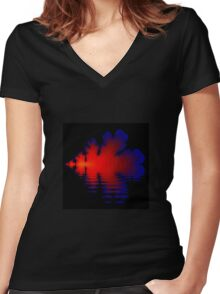 Fire and Water Women's Fitted V-Neck T-Shirt