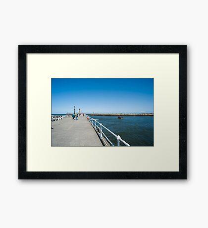 West Pier, Whitby Framed Print