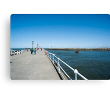 West Pier, Whitby Canvas Print