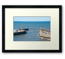 Harbour Piers Framed Print