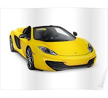 2014 McLaren MP4-12C Convertible sports car art photo print Poster