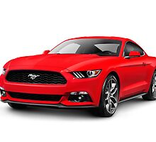 2015 Ford Mustang sports car art photo print by ArtNudePhotos