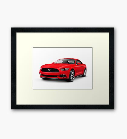 2015 Ford Mustang sports car art photo print Framed Print