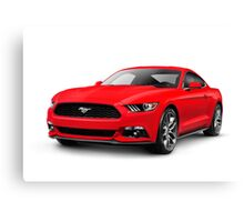 2015 Ford Mustang sports car art photo print Canvas Print