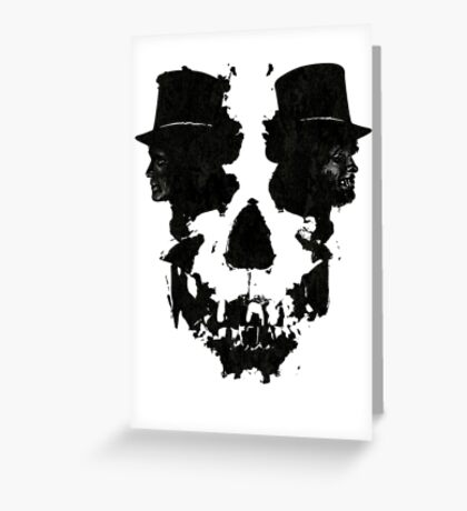 Skull of Jekyll/Hyde Greeting Card