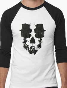 Skull of Jekyll/Hyde Men's Baseball ¾ T-Shirt