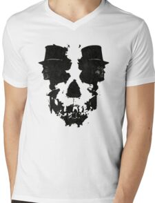 Skull of Jekyll/Hyde Mens V-Neck T-Shirt