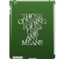 Slytherin - Those Cunning Folks Use Any Means iPad Case/Skin