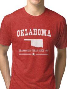 Oklahoma. Teabagging Texas Tri-blend T-Shirt