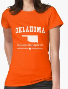 Oklahoma. Teabagging Texas Womens Fitted T-Shirt