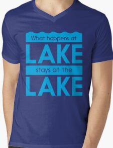 What happens at the lake stays at the lake Mens V-Neck T-Shirt