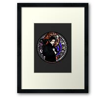 Tim Burton Stained Glass Framed Print