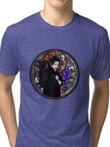 Tim Burton Stained Glass Tri-blend T-Shirt