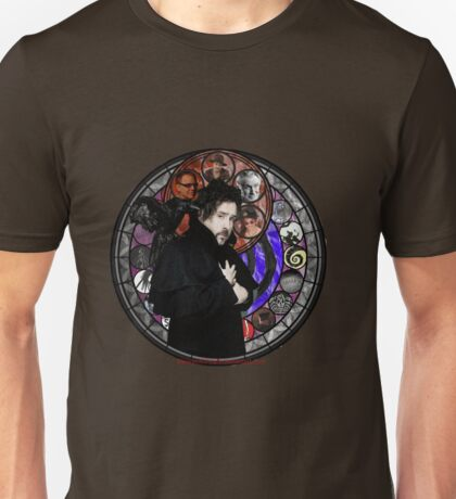 Tim Burton Stained Glass Unisex T-Shirt