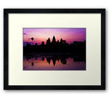 Sunrise at Angkor Wat Framed Print