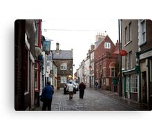 Church street in Whitby Canvas Print