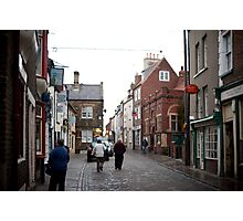 Church street in Whitby Photographic Print