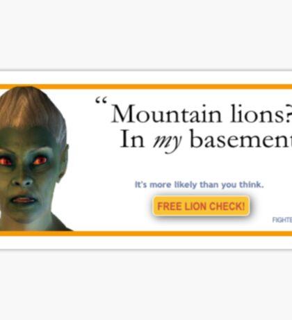 Mountain Lions, in My Basement? Sticker
