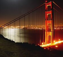 City Lights Behind the Golden Gate by PrezMedia