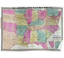 Civil War Maps 1285 Phelps Watson's historical and military map of the border southern states Poster