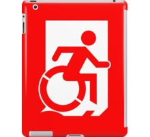 Accessible Means of Egress Icon Emergency Exit Sign, Right Hand iPad Case/Skin