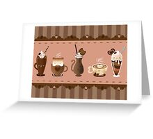Cute Cat Cafe Greeting Card