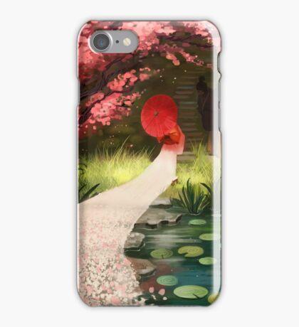Cherry Blossom Geisha iPhone Case/Skin