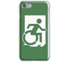Accessible Means of Egress Icon Emergency Exit Sign, Right Hand iPhone Case/Skin