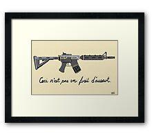 Treachery of Assault Weapons Framed Print