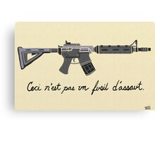 Treachery of Assault Weapons Canvas Print