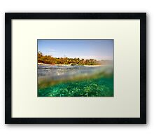 Above and below tropical island view Framed Print