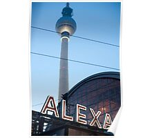 Alexanderplatz sign Poster