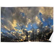 Evening Clouds  Poster