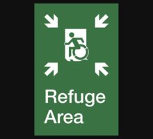 Refuge Area Accessible Exit Sign, with the Accessible Means of Egress Icon, part of the Accessible Exit Sign Project Kids Clothes