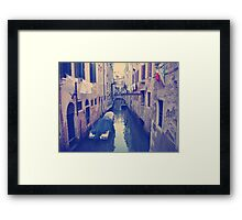 Venice, Italy, Grand Canal and historic tenements Framed Print
