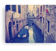 Venice, Italy, Grand Canal and historic tenements Canvas Print