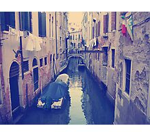 Venice, Italy, Grand Canal and historic tenements Photographic Print