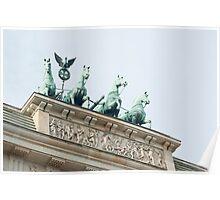 Quadriga on the Brandenburg Gate, Berlin Poster