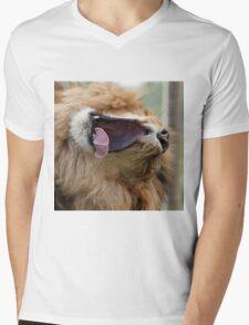 Yawning lion Mens V-Neck T-Shirt