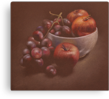 Apples and Grapes Canvas Print
