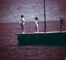 fisherman and girl by apotamianos