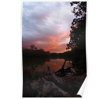 Murray River Sunset 2 Poster